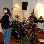 Per og Herman i studio